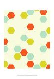Honey Comb Cream Prints by Amy Lighthall