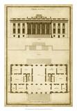 Vintage Building & Plan II Giclee Print by  Deneufforge