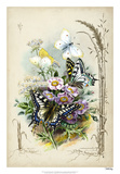 Victorian Butterfly Garden V Giclee Print by  Vision Studio