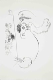 Artist and Lover Serigraph by Marc Chagall