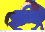 Blue Horse Collectable Print by Walasse Ting