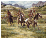Warriors of the Badlands Giclee Print by James Ayers