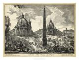 Veduta della Piazza del Popolo Giclee Print by  Piranesi