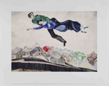 Over The Town Posters van Marc Chagall