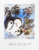 Los enamorados Lámina por Marc Chagall