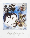 The Lovers Prints by Marc Chagall