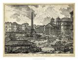 Veduta della Piazza della Rotunda Giclee Print by  Piranesi