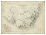 Map of New South Wales Giclee Print by W. Hughes