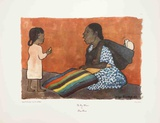 Rug Weaver (lg) Collectable Print by Diego Rivera
