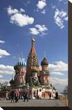 St. Basil's Cathedral on the Red Square, Moscow, Russia Stretched Canvas Print