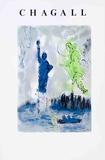 Vapaudenpatsas Kerättävät vedokset tekijänä Marc Chagall