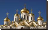 The Cathedral of the Annunciation in the Moscow Kremlin, Moscow, Russia Stretched Canvas Print