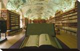 Theological library, Strahov Abbey, Prague, Central Bohemia, Czech Republic Stretched Canvas Print