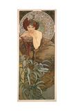 The Precious Stones: Emerald, 1900 Gicléedruk van Alphonse Mucha