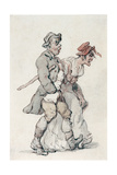 The Strollers Giclee Print by Thomas Rowlandson