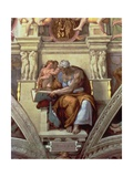 Sistine Chapel Ceiling: Cumaean Sibyl, 1510 (Post Restoration) Giclee Print by  Michelangelo Buonarroti