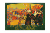 The National Colonial Exhibition, Marseille, April-November 1916, 1922 Giclee Print by David Dellepiane