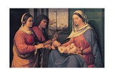 Virgin with Child, Saint Catherine and Saint John the Baptist Giclée-tryk af Sebastiano del Piombo