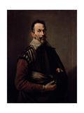 Portrait of Claudio Monteverdi (1567-1643) Giclée-tryk af Domenico Fetti or Feti