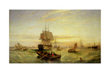 Entering Portsmouth Harbour Giclee Print by William Adolphus Knell
