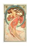 The Arts: Dance, 1898 Giclée-tryk af Alphonse Mucha