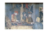 Effects of Good Government in the City, Detail of a Merchant and Craftsmen in the Shoemaker's Giclee Print by Ambrogio Lorenzetti