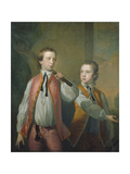 The Courtenay Brothers, c.1751 Giclee Print by Thomas Hudson