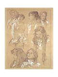 Study for Plate 17 from 'Documents Decoratifs', 1902 Giclee Print by Alphonse Mucha
