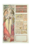 Poster Advertising 'Austria at the International Exposition, Paris 1900', 1900 Giclee Print by Alphonse Mucha