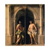 Saints Bartholomew and Sebastian, c.1508-09 Giclée-tryk af Sebastiano del Piombo