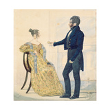 Portrait of Captain and Mrs George Ruddle, c.1835 Giclee Print by Richard Dighton