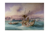 The Entrance to the Golden Horn, Constantinople Giclee Print by Amadeo Preziosi