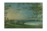 Landscape with Cricket Match in Progress Giclee Print by Paul Sandby