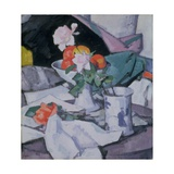 Still Life, Roses and Chinese Jar Giclee Print by Samuel John Peploe