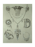 Study for Plate 49 from 'Documents Decoratifs', 1902 Giclee Print by Alphonse Mucha