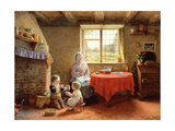 The Three Orphans, 1860 Giclee Print by Frederick Daniel Hardy