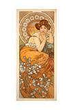 Alphonse Mucha - The Precious Stones: Topaz, 1900 Digitálně vytištěná reprodukce