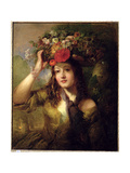 Miss Lewis as a Flower Girl Giclee Print by William Etty