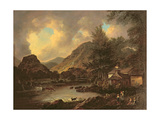Castle Crag Borrowdale Giclee Print by Julius Caesar Ibbetson
