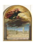 The Eternal Father and Saint Mark's Square, c.1543 Giclee Print by Bonifacio Veronese