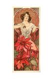Alphonse Mucha - The Precious Stones: Ruby, 1900 Digitálně vytištěná reprodukce