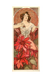 The Precious Stones: Ruby, 1900 Giclee Print by Alphonse Mucha