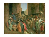 The Street and Mosque of the Ghooreyah, Cairo Giclee Print by John Frederick Lewis