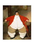 Portrait of Daniel Lambert (1770-1809) Giclee Print by Benjamin Marshall