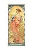 Alphonse Mucha - The Seasons: Summer, 1900 Digitálně vytištěná reprodukce