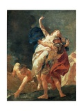 The Rape of Helen Giclee Print by Giambattista Piazzetta
