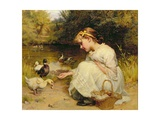 Making Friends, 1885 Giclee Print by Frederick Morgan