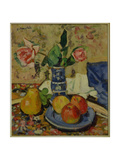 Apples, Pears and Roses Giclee Print by George Leslie Hunter