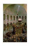 The Church of the Holy Sepulchre, Jerusalem: Fetes De Flambeaux Giclee Print by Eugene Alexis Girardet