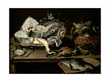 Still Life with Fish and Cat, 1631 Giclee Print by Alexander van Adriaenssen